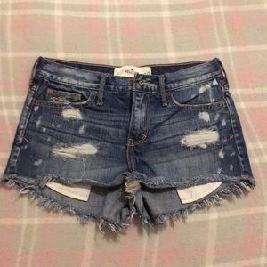 Hollister Ripped Denim Shorts